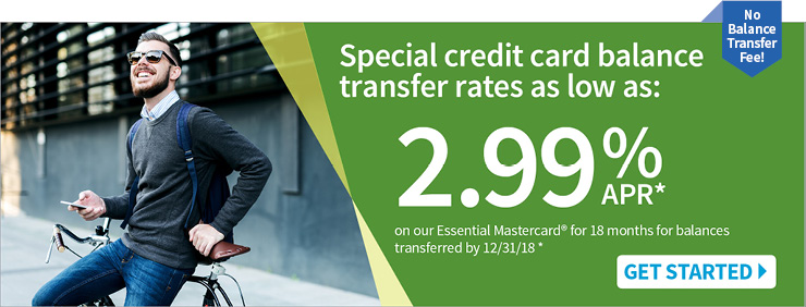 Special credit card balance transfer rates.