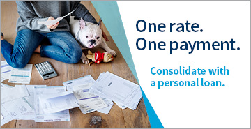 One rate. One payment. Consolidate with a personal loan.