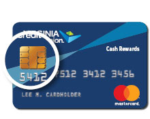 Microchip technology on a credit card.